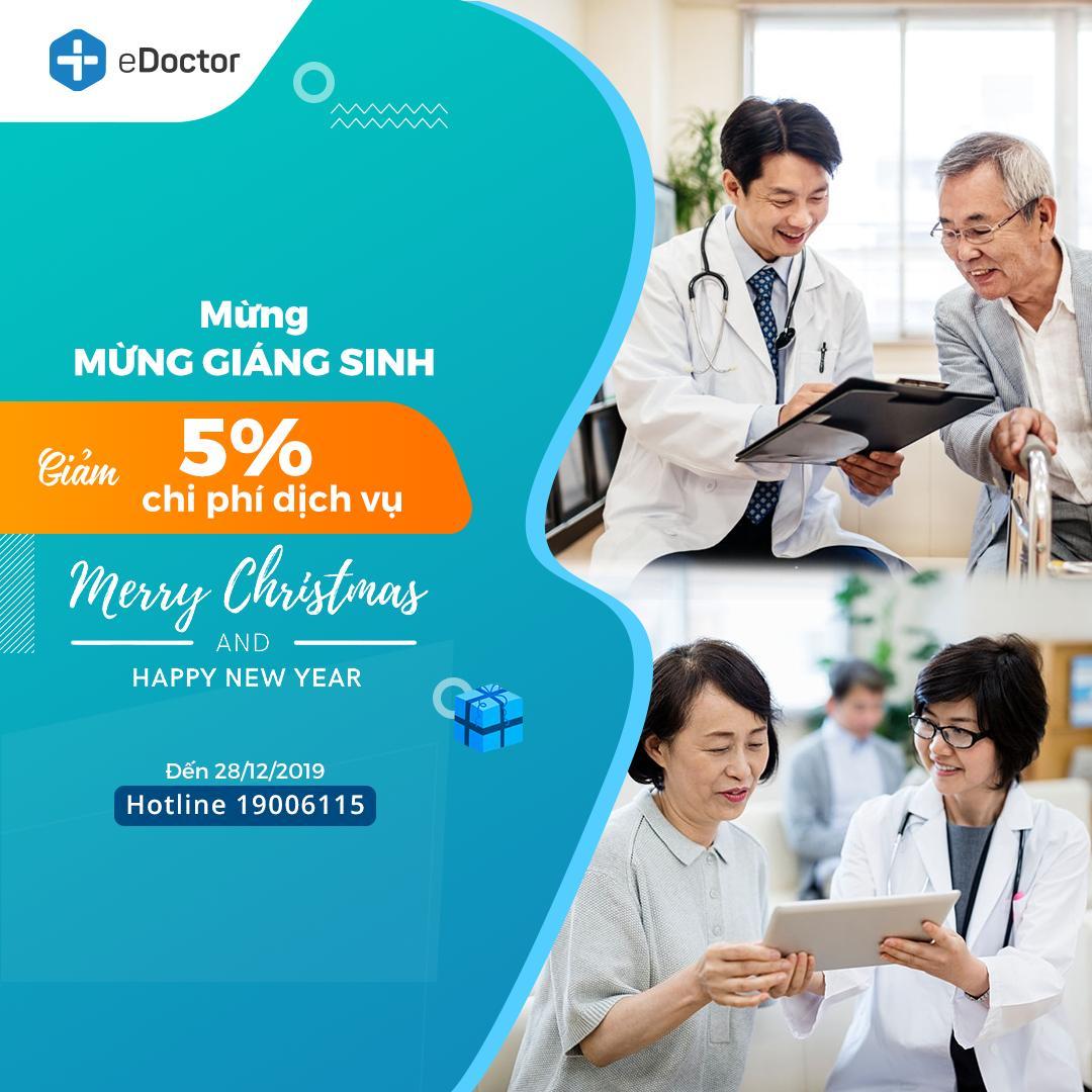 Mừng Giáng sinh và chào đón năm mới 2020: eDoctor gửi tặng bạn ưu đãi từ 5%